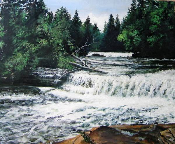 Painting - Lower Falls by William Brody