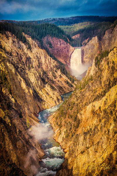 Photograph - Lower Falls - Yellowstone by Rikk Flohr
