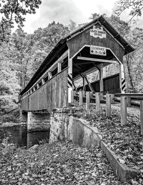 Wall Art - Photograph - Lower Humbert Covered Bridge 2 Bw by Steve Harrington