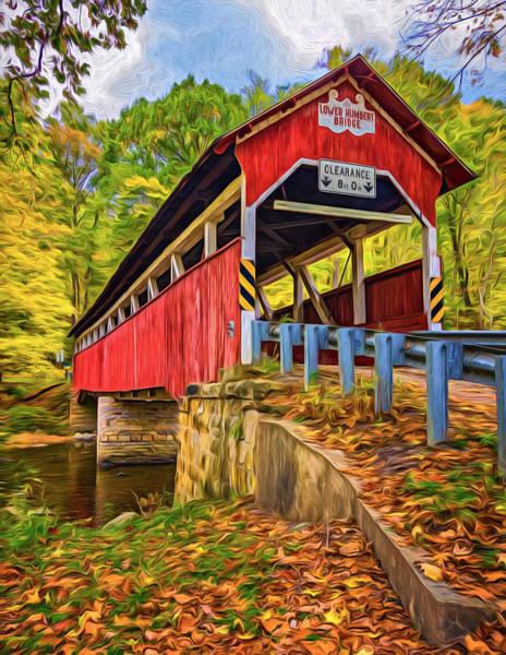 Lower Humbert Covered Bridge 2 - Paint Art Print