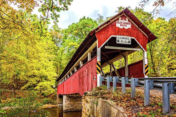 Laurel Hill Creek Photograph - Lower Humbert Covered Bridge 3 by Steve Harrington