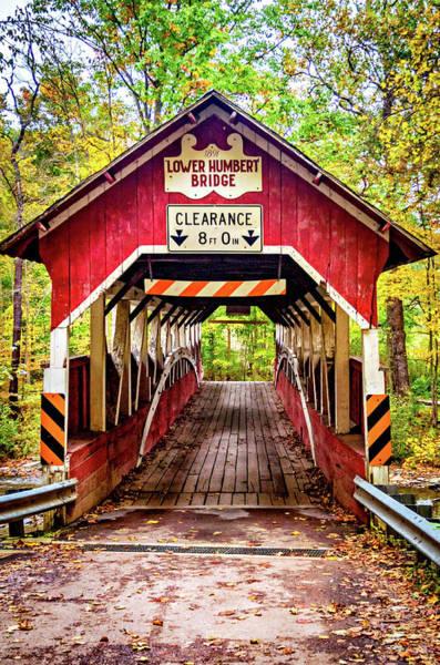 Laurel Hill Creek Photograph - Lower Humbert Covered Bridge 5 by Steve Harrington