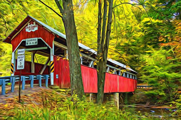 Lower Humbert Covered Bridge - Paint Art Print
