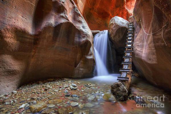 Photograph - Lower Kannara Creek Falls by Spencer Baugh