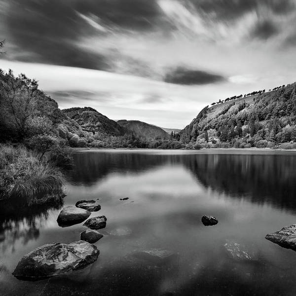 Photograph - Lower Lake At Glendalough, County Wicklow - Ireland by Barry O Carroll