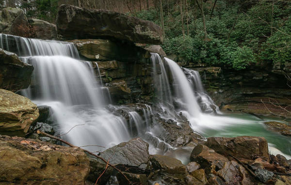 Photograph - Lower Laurel Creek Falls by Chris Berrier