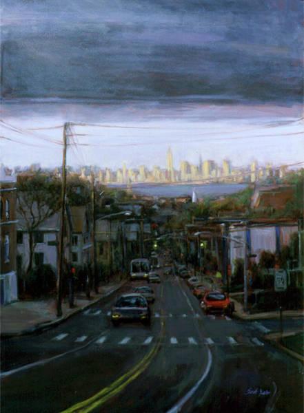Manhattan Skyline Painting - Lower Manhattan 2002 by Sarah Yuster