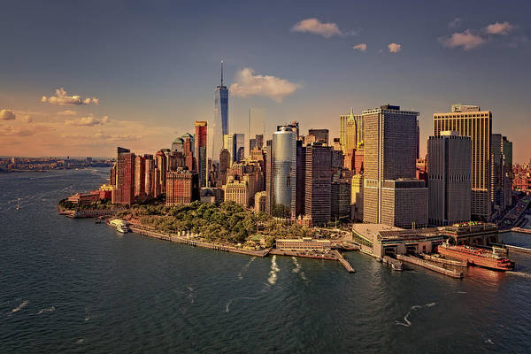 Wall Art - Photograph - Lower Manhattan Aerial View by Susan Candelario