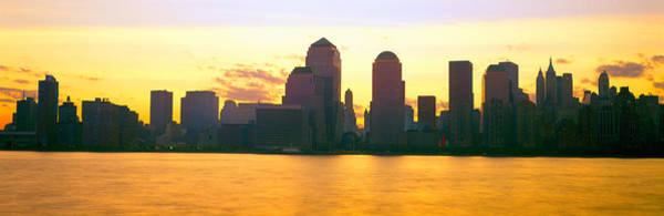 N.c Wall Art - Photograph - Lower Manhattan Skyline At Sunrise by Panoramic Images