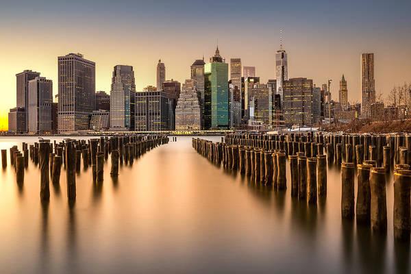 Photograph - Lower Manhattan Skyline At Sunset by Mihai Andritoiu