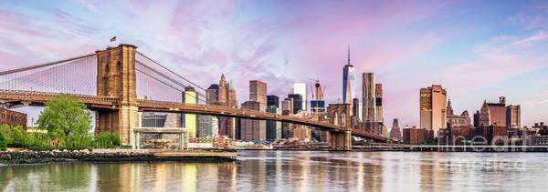 Wall Art - Photograph - Lower Manhattan Skyline Panorama, New York, Usa by Matteo Colombo