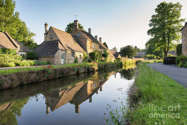 English Countryside Photograph - Lower Slaughter Evening Sunlight by Tim Gainey