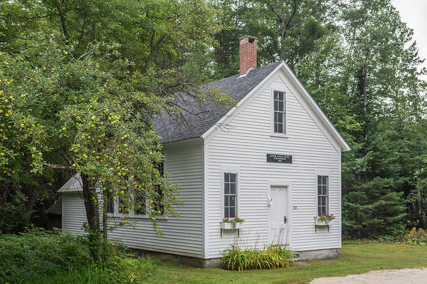 Photograph - Lower Sunday River Schoolhouse by Guy Whiteley