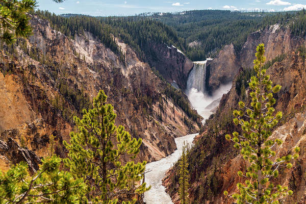 Grand Canyon Photograph - Lower Yellowstone Canyon Falls 5 - Yellowstone National Park Wyoming by Brian Harig