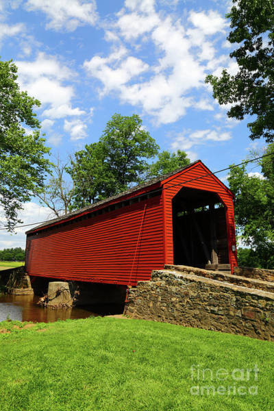 Photograph - Loys Station Covered Bridge Old Frederick Road Maryland by James Brunker
