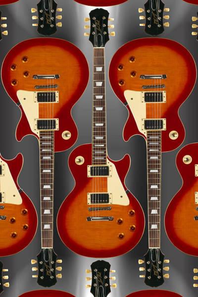 Guitar Neck Photograph - Lp - 2 by Mike McGlothlen