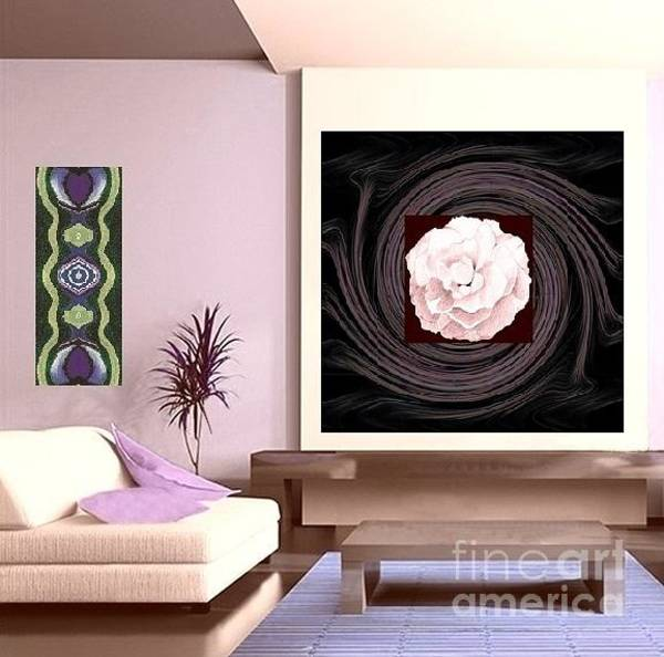Photograph - L R With A Pink Rose And The Bigger Picture And Heart Matters Variation Detail On The Wall by Helena Tiainen