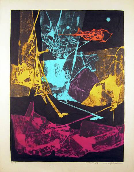 Abstractionism Painting - Ls1974ny001  5-14 Luz Amarilla 15.75x21.25 by Alfredo Da Silva
