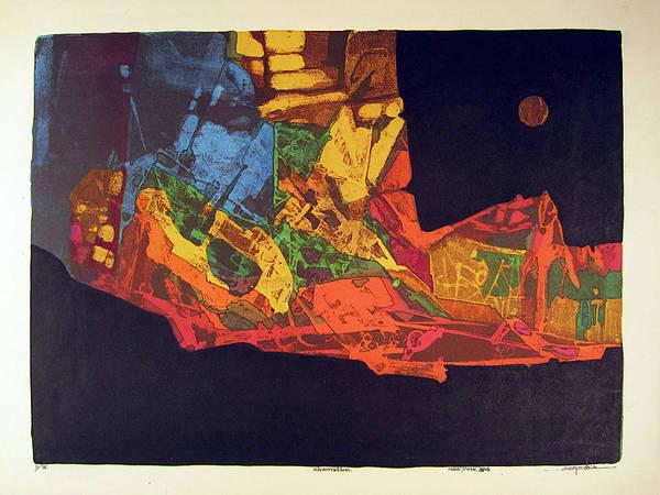 Abstractionism Painting - Ls1974ny002 11-16 Ilumination 21.5x15.75 by Alfredo Da Silva
