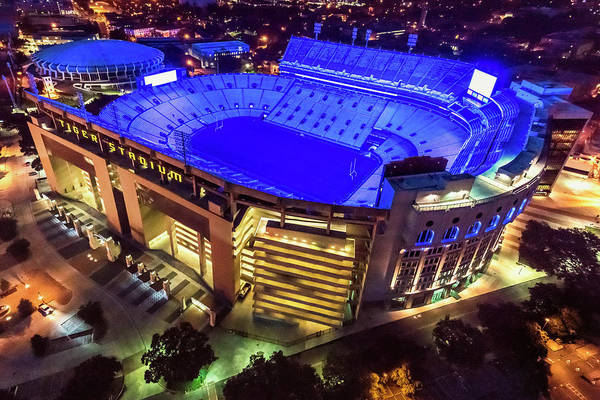 Photograph - Lsu Blue by Andy Crawford