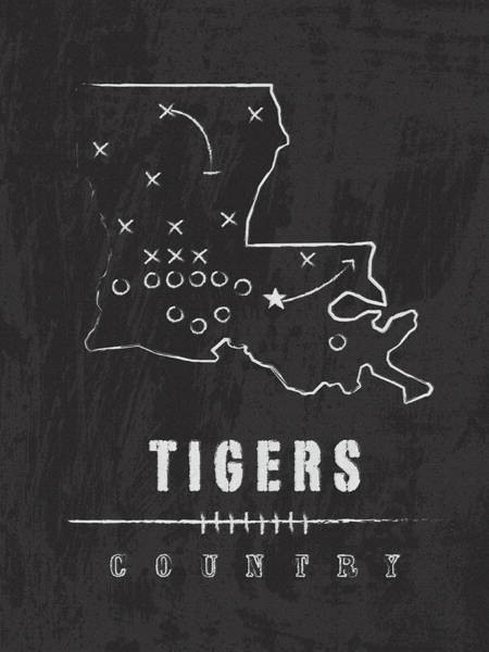 Baton Rouge Digital Art - Lsu Tigers Country by Damon Gray