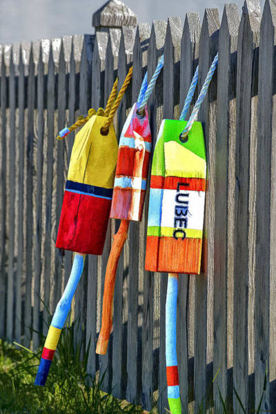 Wall Art - Photograph - Lubec Buoys by Marty Saccone