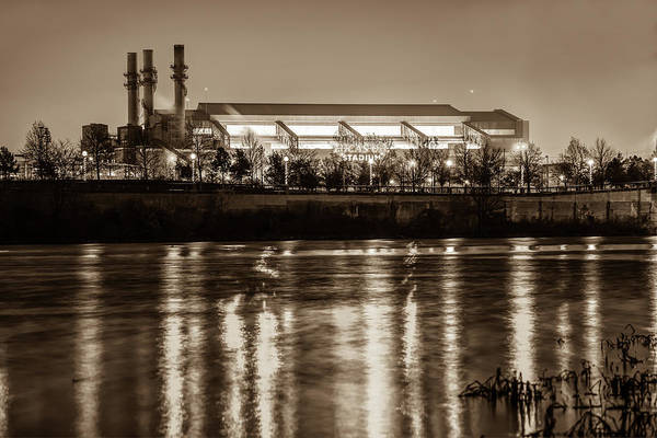 Photograph - Lucas Oil Stadium - Indianapolis Colts Home Field - Sepia Edition by Gregory Ballos