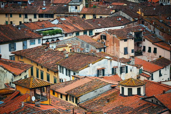 Photograph - Lucca Roof Above View by Songquan Deng