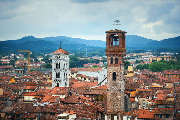 Photograph - Lucca Skyline Tower by Songquan Deng