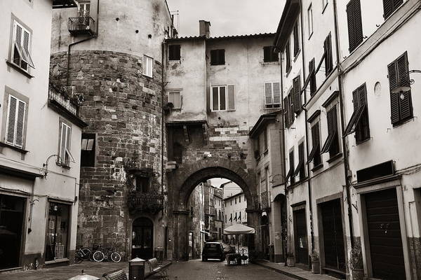 Photograph - Lucca Street Archway by Songquan Deng