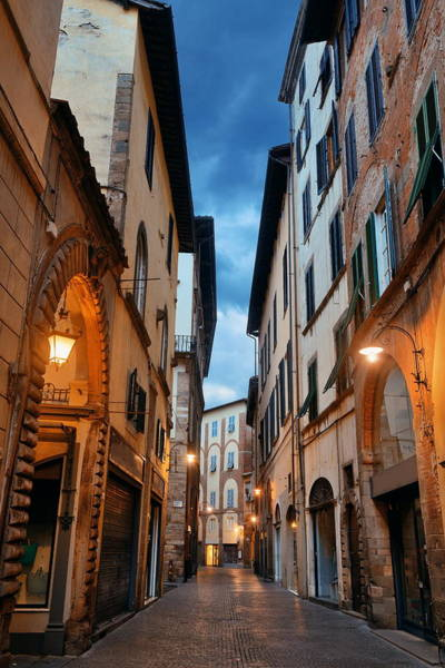 Photograph - Lucca Street Morning by Songquan Deng