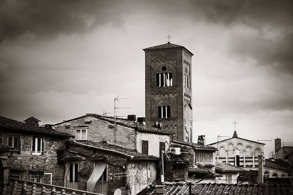 Photograph - Lucca Tower Of Chiesa San Pietro by Songquan Deng