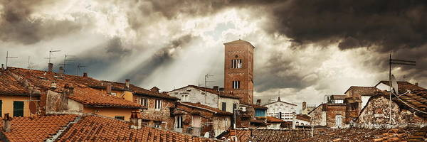 Photograph - Lucca Tower Panorama by Songquan Deng