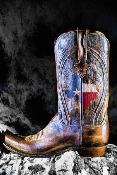 Digital Art - Lucchese A Texas Thing by JC Findley