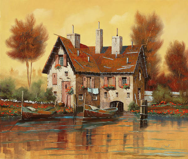Wall Art - Painting - Luce Gialla by Guido Borelli