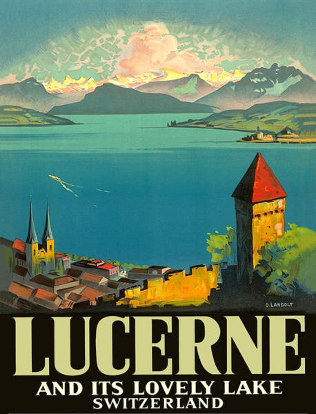Wall Art - Painting - Lucerne And Its Lovely Lake by Long Shot