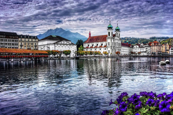 Old Church Photograph - Lucerne In Switzerland  by Carol Japp