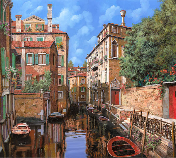 Venice Wall Art - Painting - Luci A Venezia by Guido Borelli