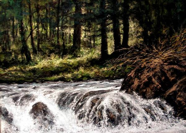 Rivers Wall Art - Painting - Lucia Falls In July by Jim Gola