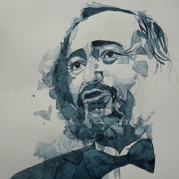 Opera Singer Painting - Luciano Pavarotti  by Paul Lovering