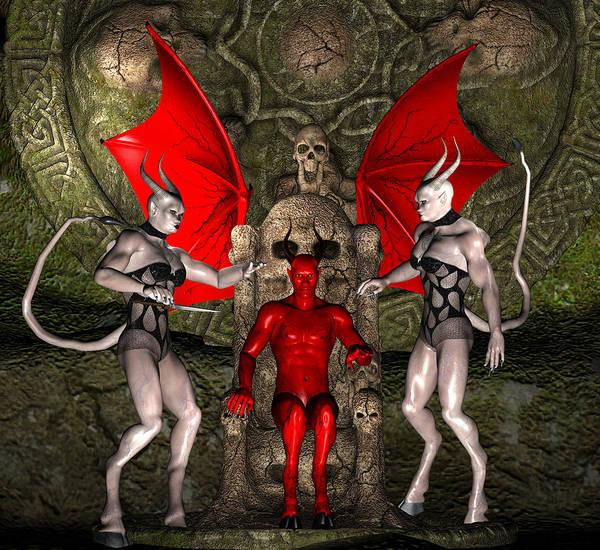 Digital Art - Lucifer by Carlos Diaz