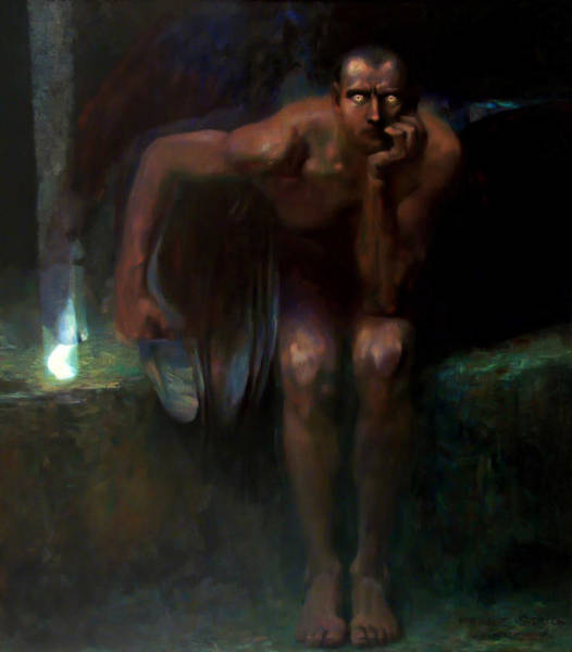 Satan Painting - Lucifer by Franz von Stuck