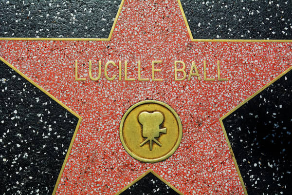 Photograph - Lucille Ball Star by Kyle Hanson