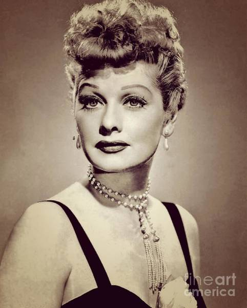 Hollywood Star Photograph - Lucille Ball, Vintage Actress by Esoterica Art Agency