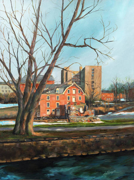 Monocacy Wall Art - Painting - Luckenbach Mill by Diane Hutchinson