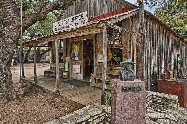 Photograph - Luckenbach Post Office And General Store_2 by Sam Stanton