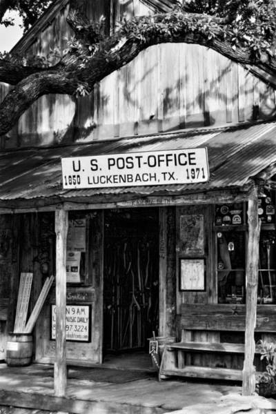 Photograph - Luckenbach Texas Bw by Joan Carroll