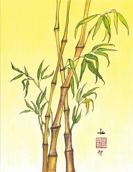 Wall Art - Mixed Media - Lucky Bamboo 1 by Irina Davis