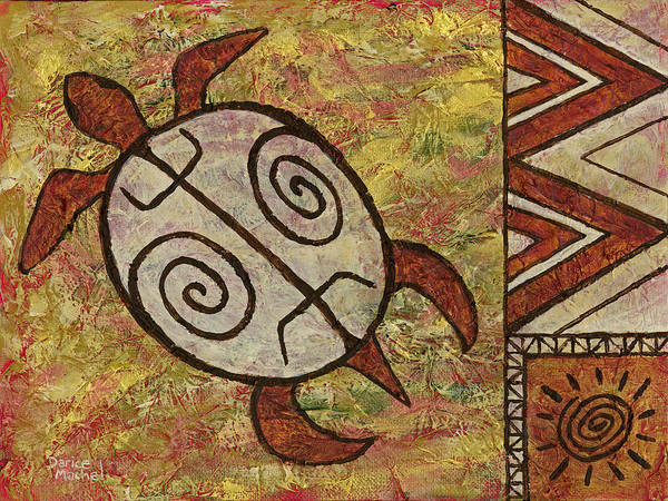 Painting - Lucky Honu by Darice Machel McGuire