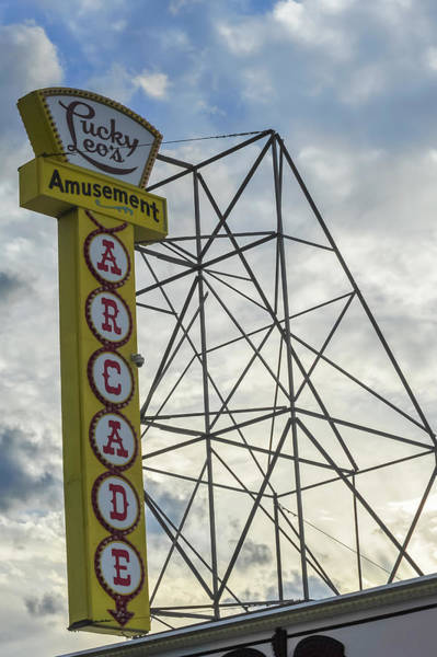 Photograph - Lucky Leos Arcade Seaside Heights by Terry DeLuco